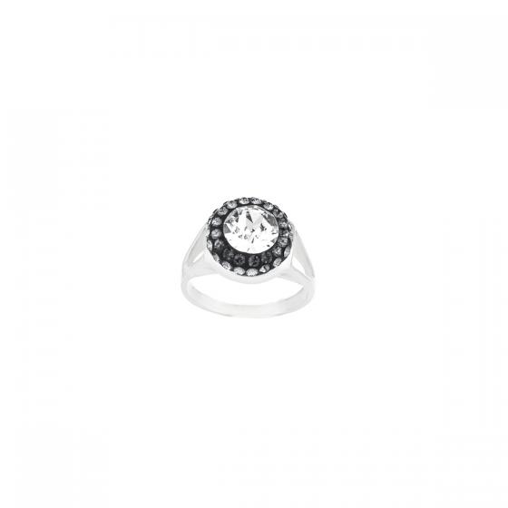 Сребърен пръстен Divine brilliance с инкрустирани кристали