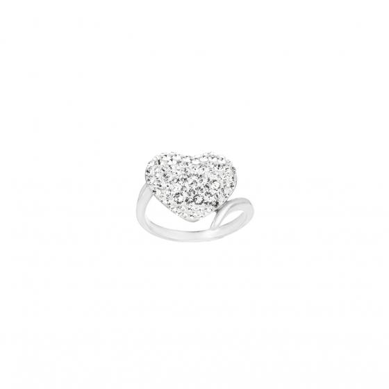 Сребърен пръстен Romance с инкрустирани кристали