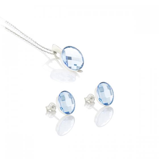 Сребърен сет с кристали Brilliance