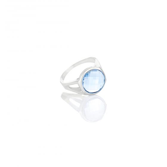 Сребърен пръстен с кристал Brilliance