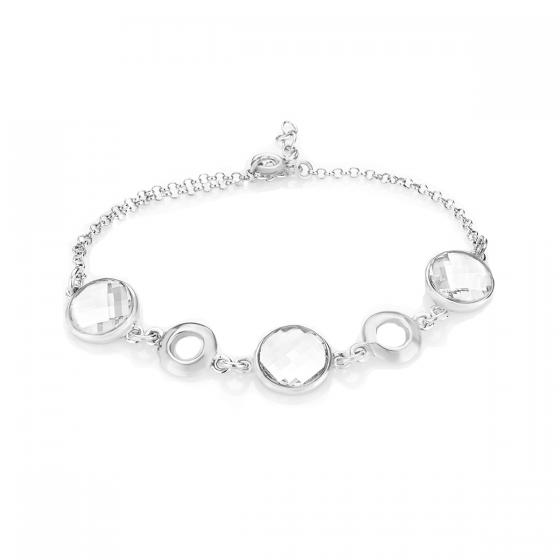 Сребърна гривна с кристали Brilliance с 3 елемента