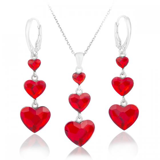 Кристален сребърен сет Romance