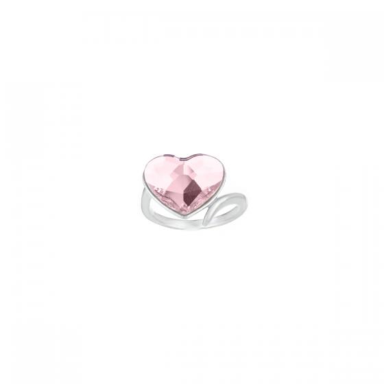 Сребърен пръстен с кристал Romance
