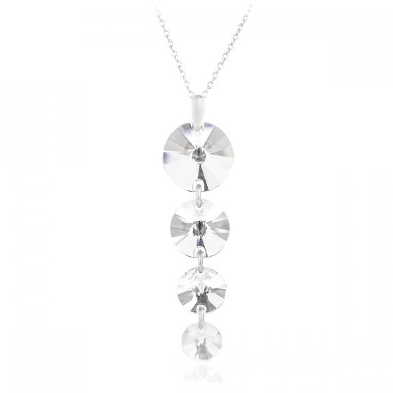 Сребърно колие с кристали 4 Rivolli