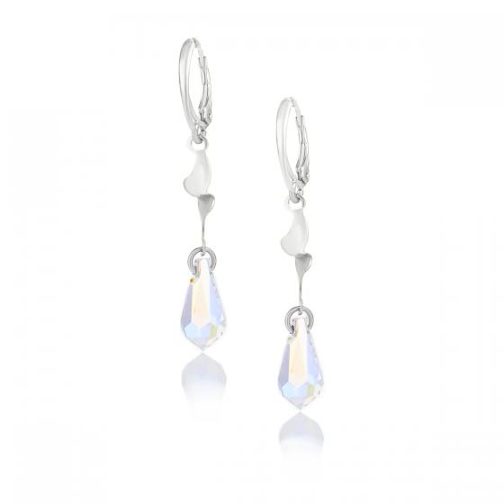 Сребърни обици с кристали Grace teardrop