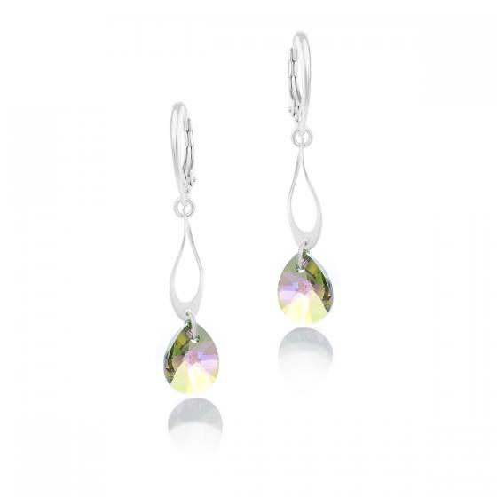 Сребърни обици с кристали Grace drop