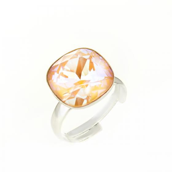 Блестящ сребърен пръстен Quadro
