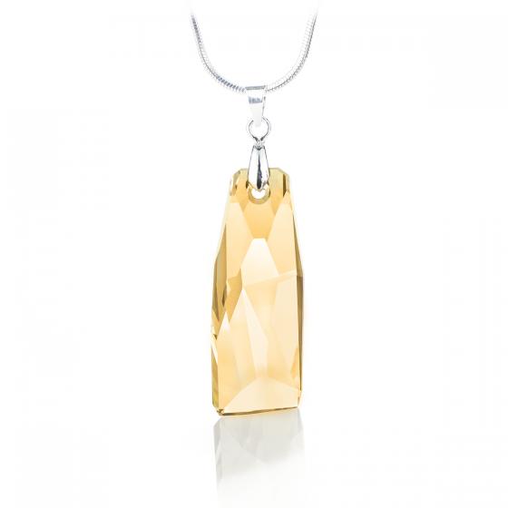 Колие Crystalactite petite с кристал 35мм